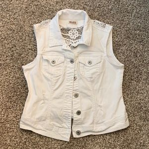 Mudd white jean vest